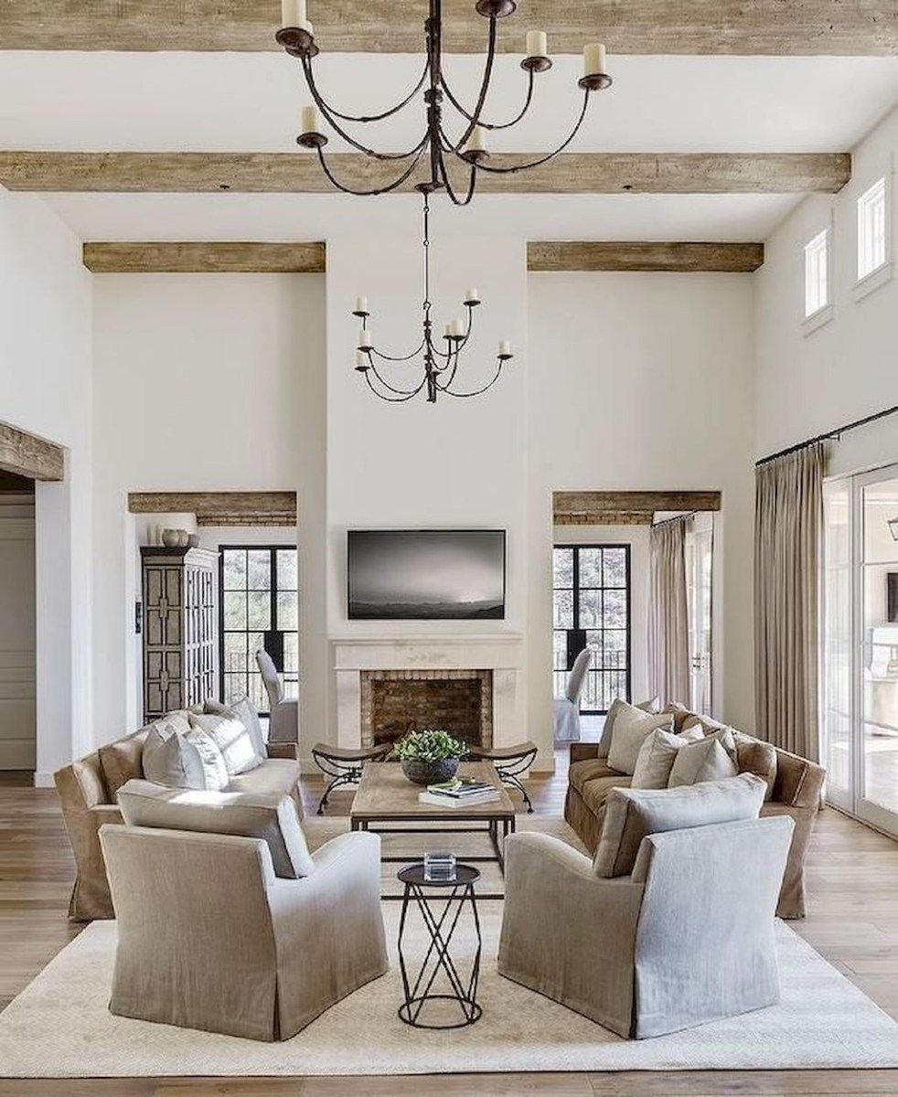 Amazing Rustic Farmhouse Living Room Decoration Ideas 17