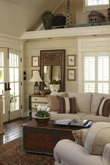Amazing Rustic Farmhouse Living Room Decoration Ideas 26