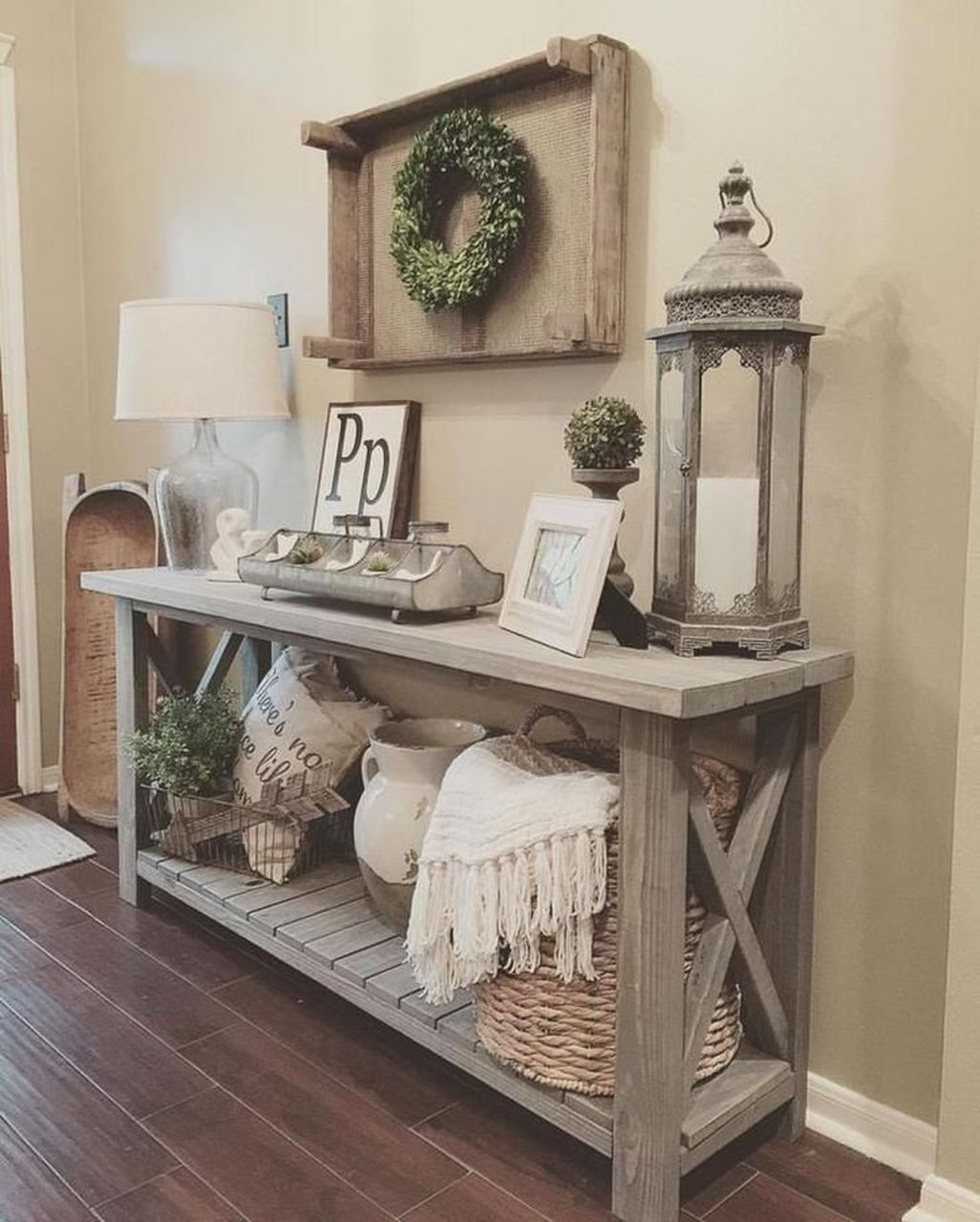 Amazing Rustic Farmhouse Living Room Decoration Ideas 35
