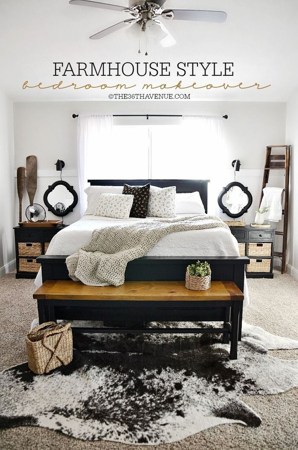 Awesome Rustic Farmhouse Bedroom Decoration Ideas 18