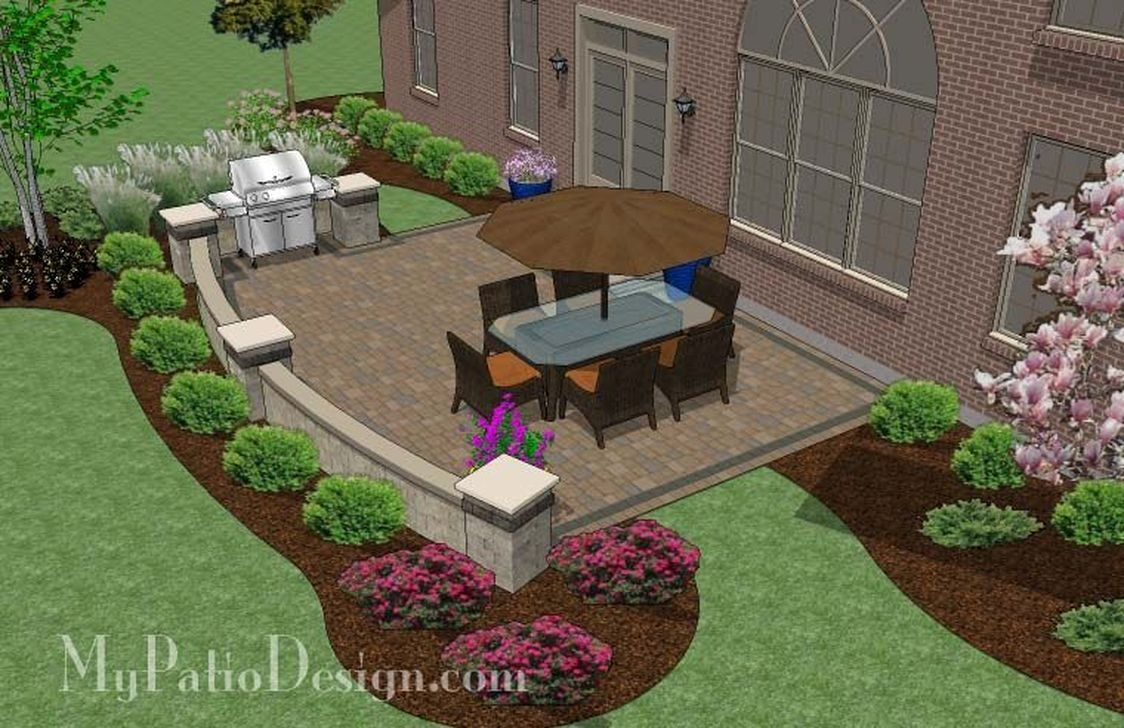 Awesome Small Backyard Patio Design Ideas 44