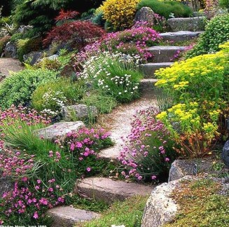 Beautiful Front Yard Rock Garden Design Ideas 11