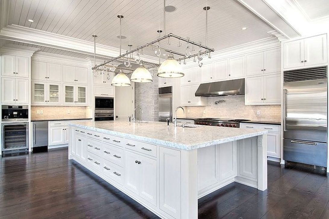 Best White Kitchen Cabinet Design Ideas 14