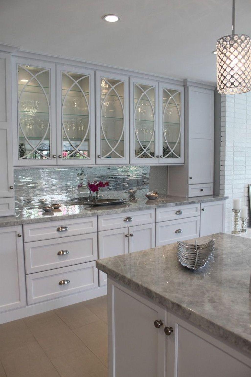 Best White Kitchen Cabinet Design Ideas 32