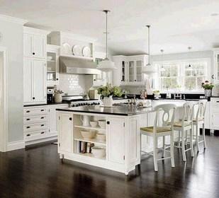 Best White Kitchen Cabinet Design Ideas 34