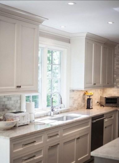 Best White Kitchen Cabinet Design Ideas 41