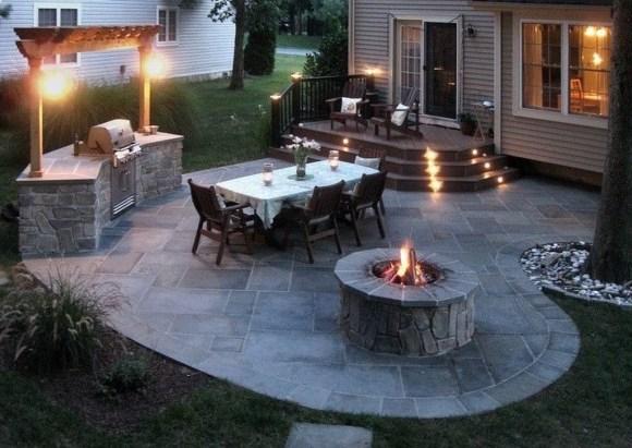 Cozy Backyard Patio Deck Design Decoration Ideas 28