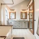 Fresh Rustic Farmhouse Master Bathroom Remodel Ideas 29