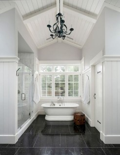 Fresh Rustic Farmhouse Master Bathroom Remodel Ideas 40