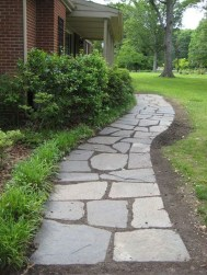 Stunning Front Yard Walkway Landscaping Design Ideas 02