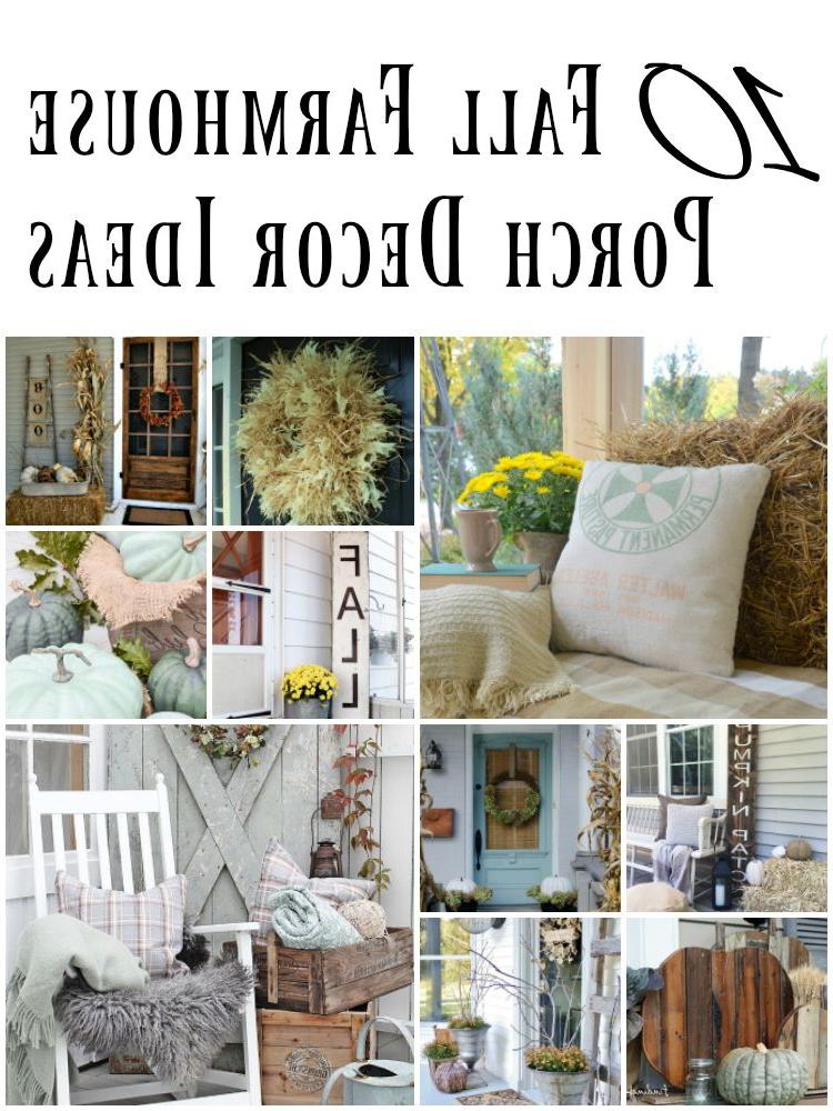 10 Cozy Fall Farmhouse Porch Decor Ideas Porch