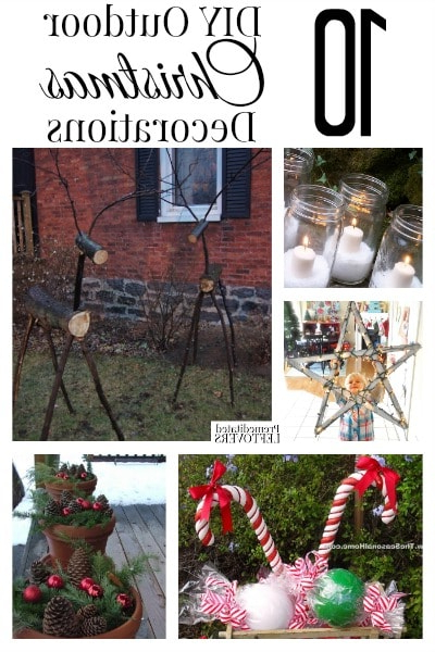 10 Diy Outdoor Christmas Decorations