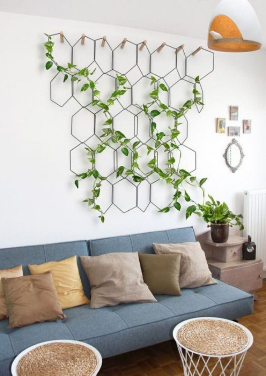 10 Ideas To Fill The Space Above Your Couch Plant Decor