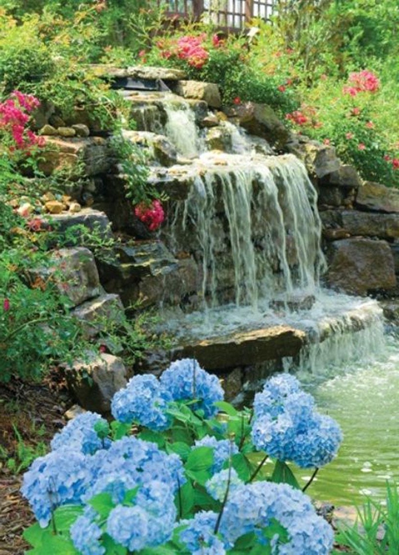 100 Marvelous Small Waterfall Pond Landscaping Ideas For