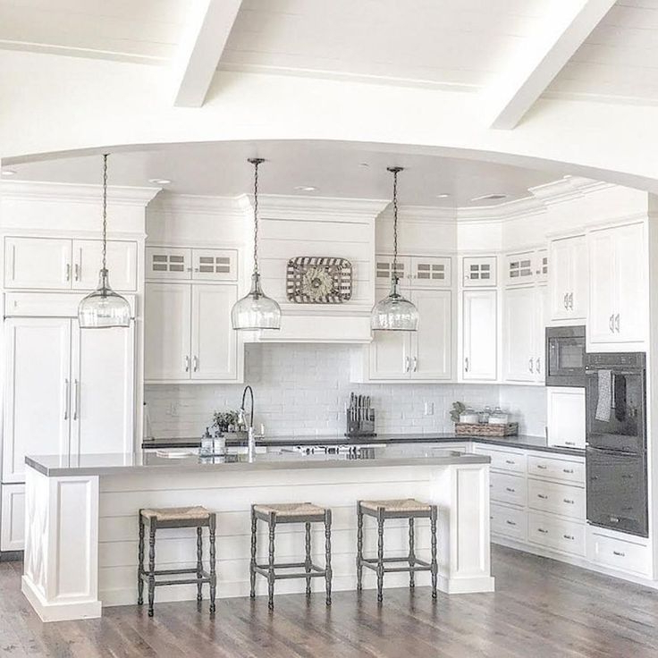 100 Rustic Farmhouse Lighting Ideas On A Budget Kitchen Cabinets Decor White Kitchen Design