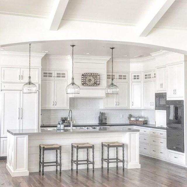 100 Rustic Farmhouse Lighting Ideas On A Budget Kitchen Cabinets Decor White Kitchen Design