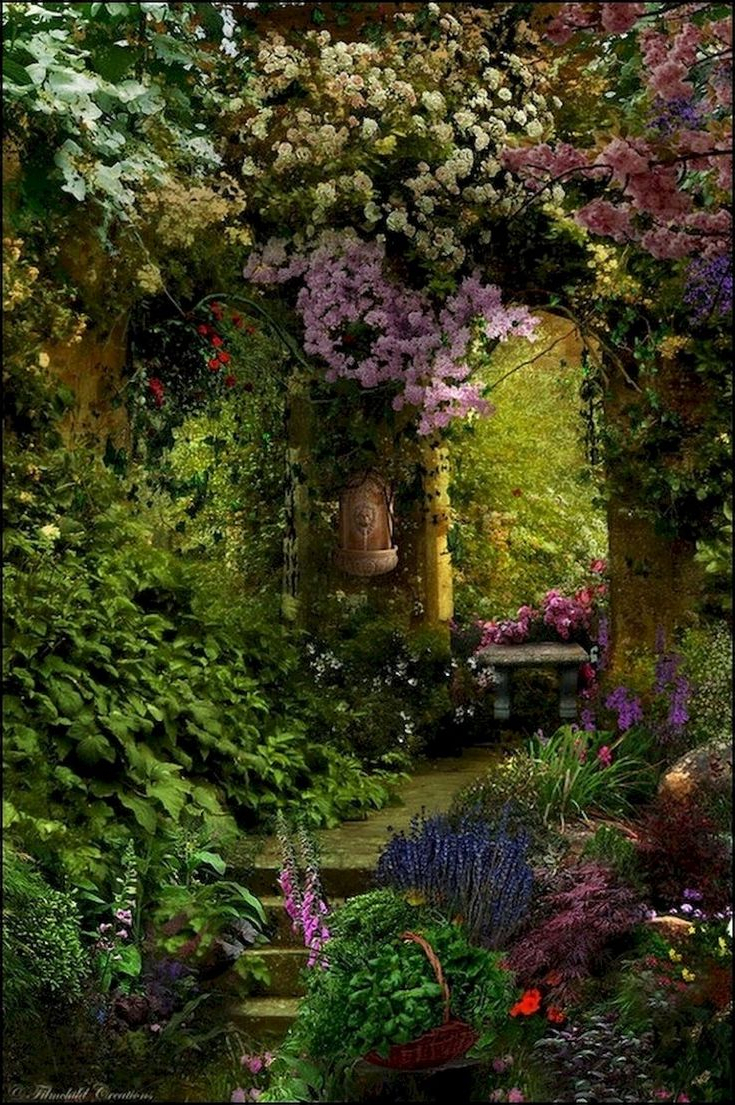 115 Fabulous Romantic Backyard Garden Ideas On A Budget Cottage Garden Lush Garden Budget