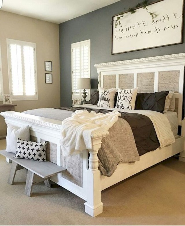 120 Home Decor For Farmhouse Master Bedroom Ideas 6
