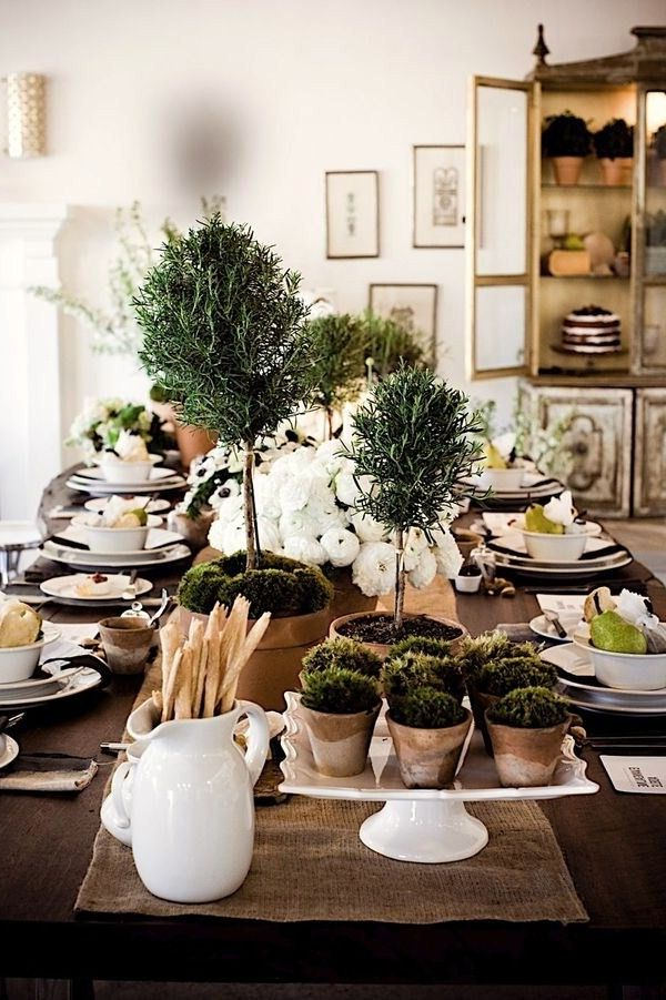 14 Table Top And Tapiaries Decor Ideas Table Settings