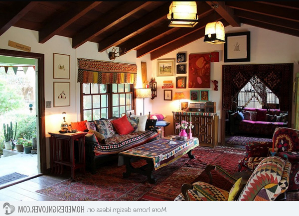 15 Bohemian Inspired Living Rooms Decoration For House