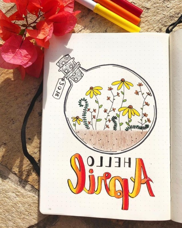 15 Wonderful April Bullet Journal Cover Pages To Inspire