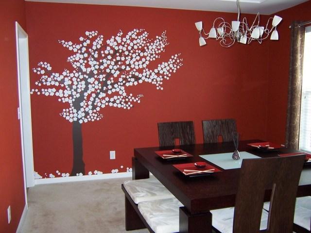 17 Beautiful Tree Wall Art Ideas To Decor Dining Room Interior