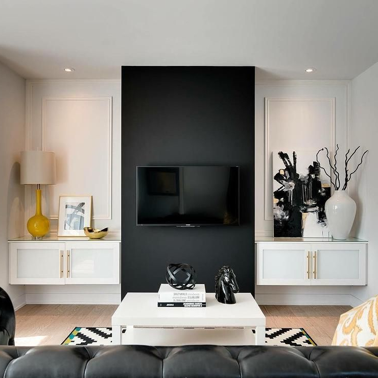 20 Beautiful Living Room Accent Wall Ideas Accent Walls In Living Room Black White Living