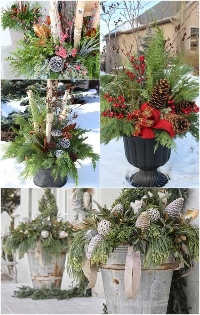 20 Beautiful Winter Planter Ideas Christmas Planters