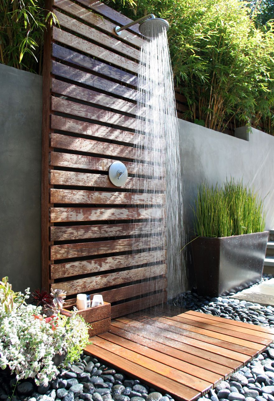 21 Refreshingly Beautiful Outdoor Showers I Bet Youd Love