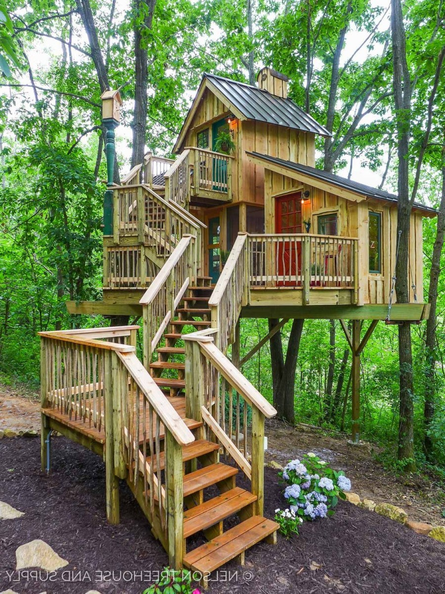 21 Unbeliavably Amazing Treehouse Ideas That Will Inspire You Tree House Designs Cool Tree