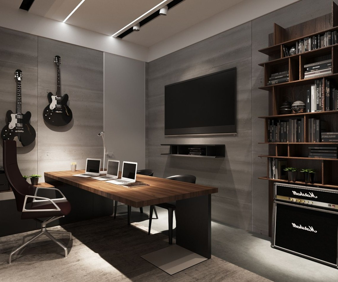 3 Examples Of Modern Simplicity Man Cave Home Office