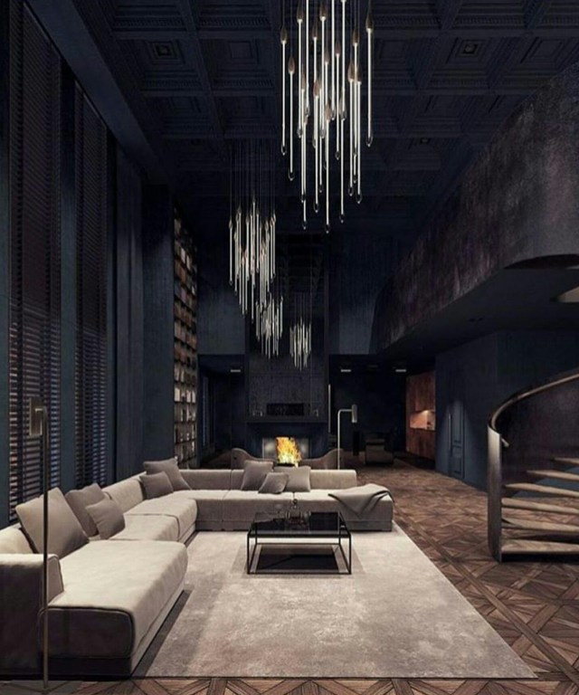 30 Elegant Dark Living Room Ideas Dramatic Paint