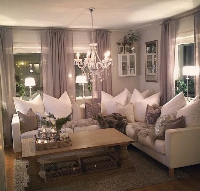 35 Stunning Winter Living Room Decorating Ideas That Will