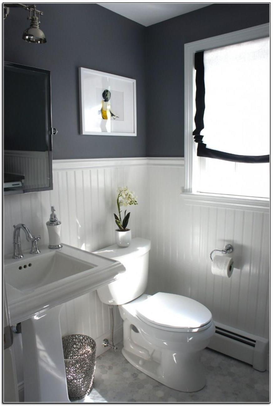 40 Perfect Gray Half Bathroom Decorating Ideas On A Budget Bathroom Layout Half Bathroom