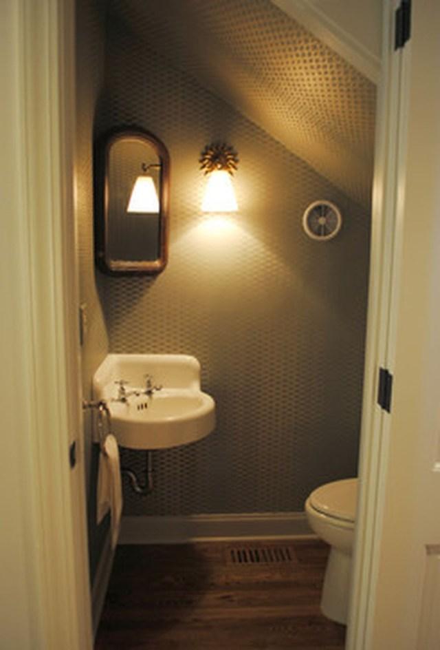 40 Unique Small Bathroom Understairs Designs Ideas Small