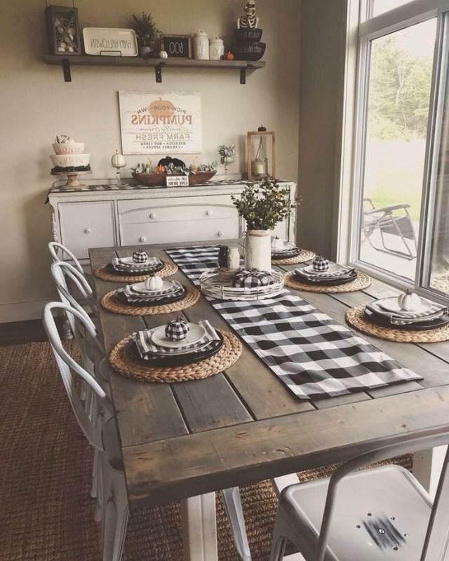 40 Wonderful Farmhouse Style Dining Room Design Ideas Farmhouse Kitchen Decor Kitchen Decor