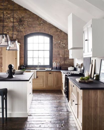 41 Amazing Kitchens Design Ideas With A Brick Wall Best