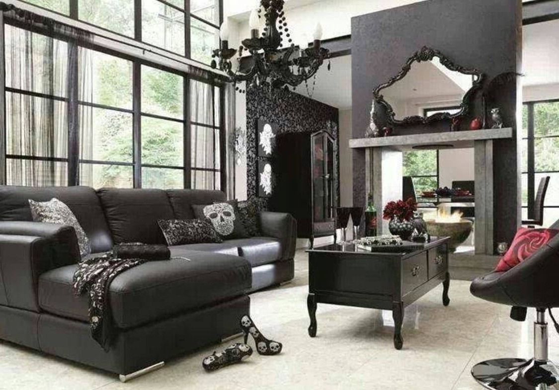 47 Captivating Goth Living Room Ideas For Inspiration