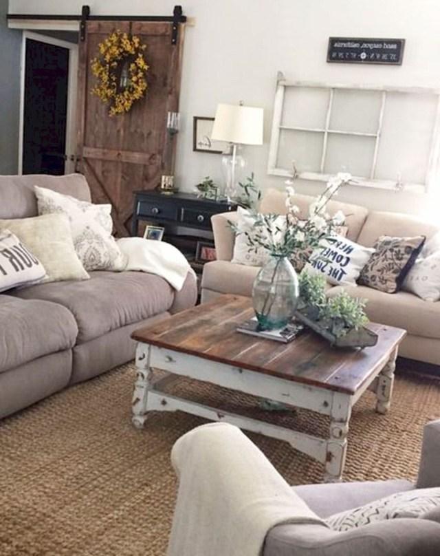 50 Rustic Farmhouse Living Room Decor Ideas 26 Farm