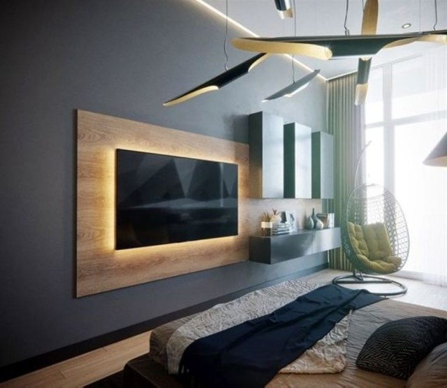 52 Wall Tv Placement Ideas Using Pallets Material