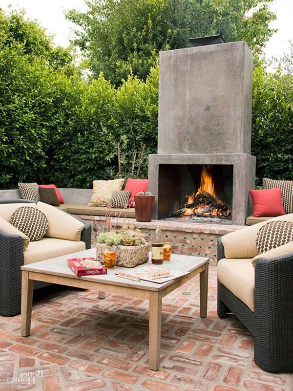 53 Most Amazing Outdoor Fireplace Designs Ever Outdoor