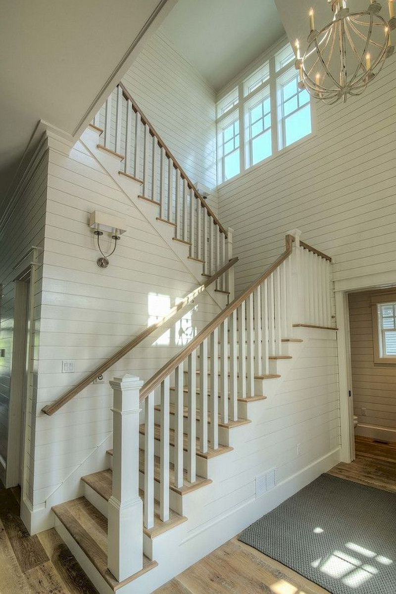 55 Unique Coastal Stairs Design Ideas For Home This Summer