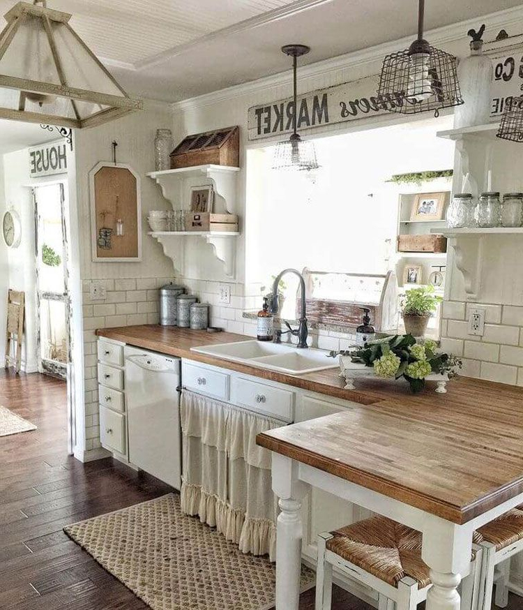 75 Best Rustic Farmhouse Decor Ideas Modern Country Styles 2020 Farmhouse Kitchen Design