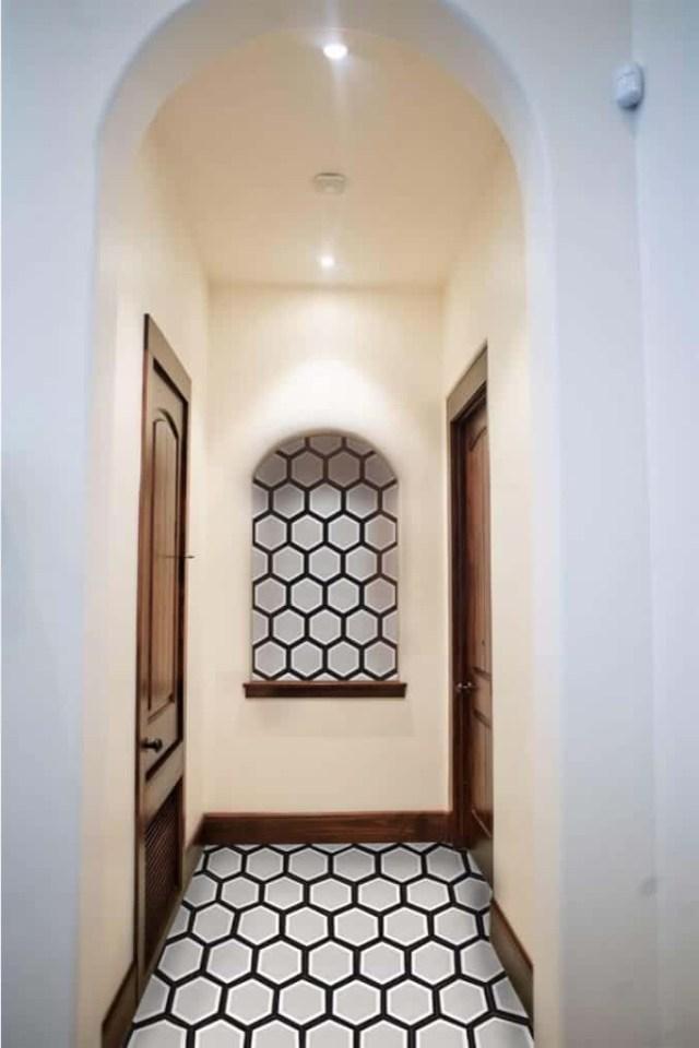 8x9 Concrete Tile Black Hexagon Tiles Encaustic