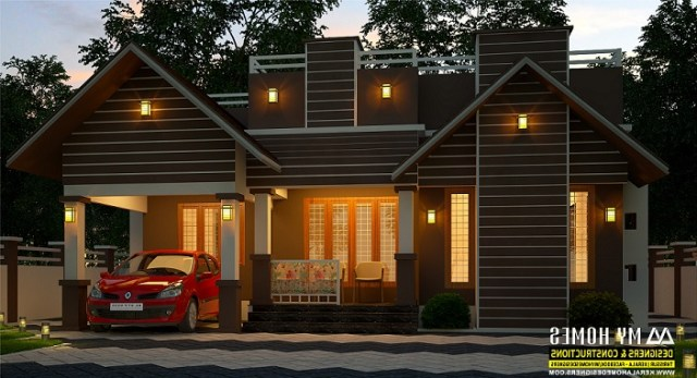 950 Square Feet Single Floor Low Cost Modern Home Design