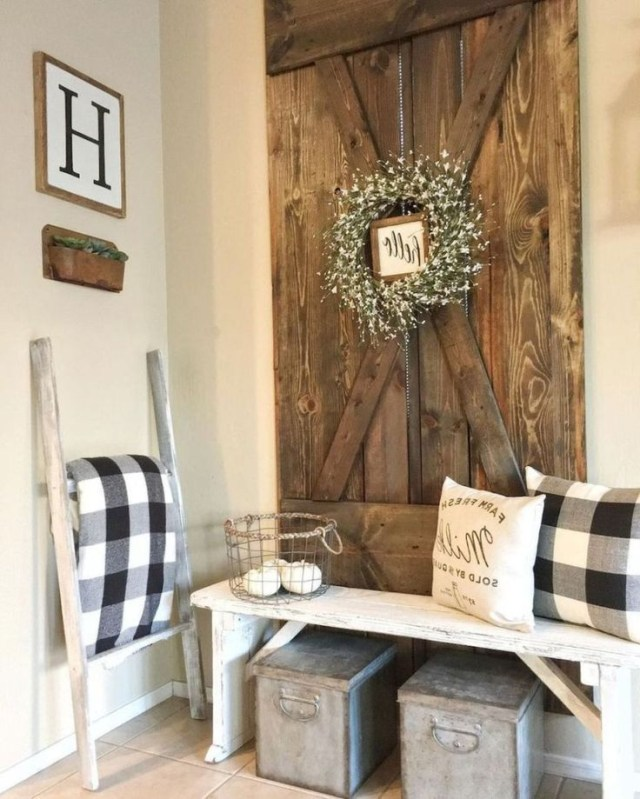 99 Cute Rustic Farmhouse Home Decoration Ideas With