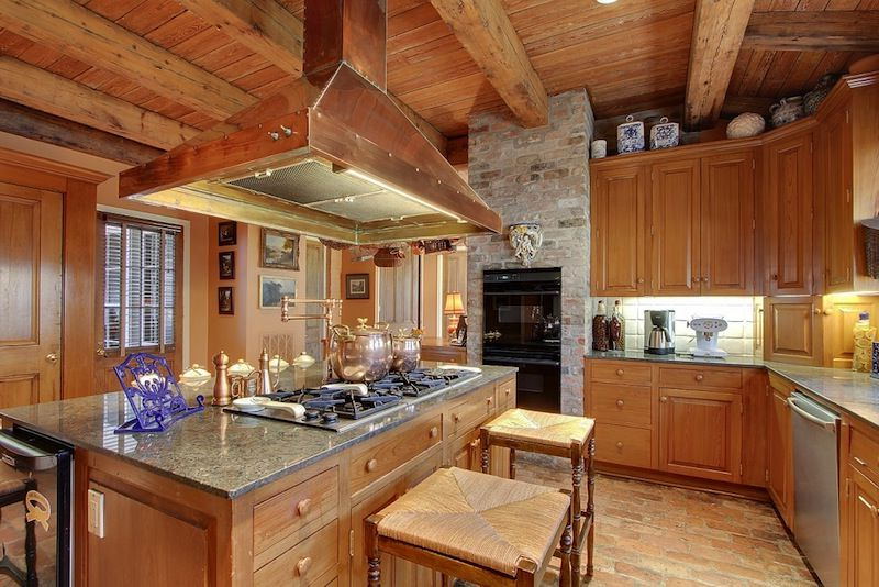 A Hays Town Cooks Kitchen Features Antique Cypress