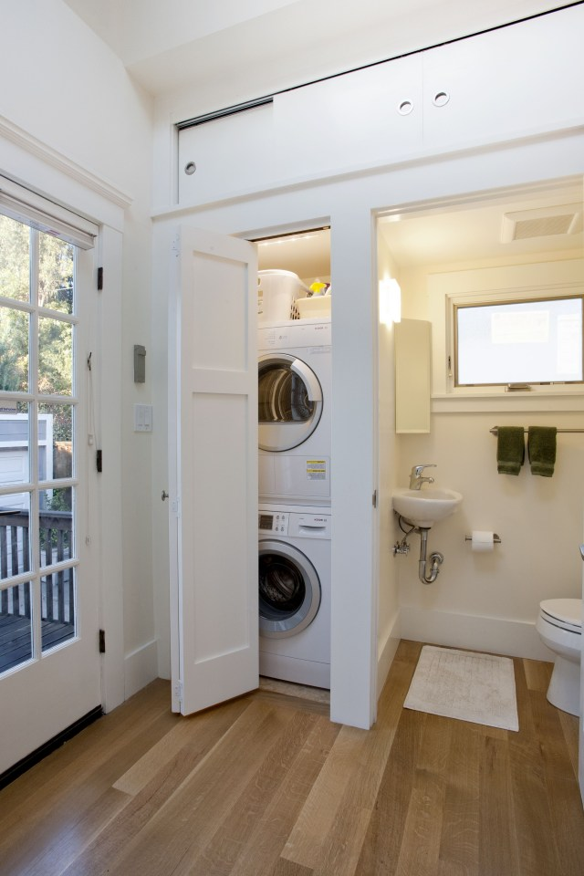 A New Guest Bath And Laundry Room Were Installed Laundry