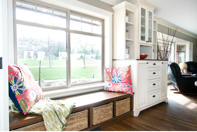 Add Bench Seating In Kitchen With Low Windowsill With
