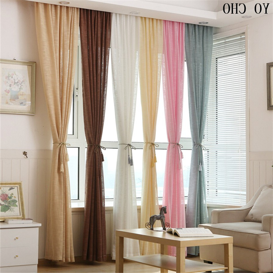 Aliexpress Buy Multicolor Thicken Linen Curtains